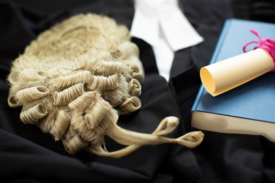 Barristers wig and gown